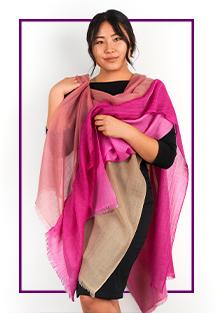 Nima pink shawl