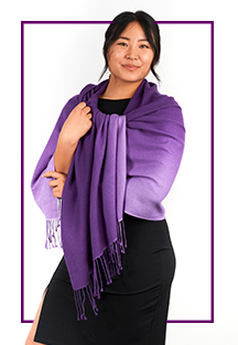 Nima purple shawl