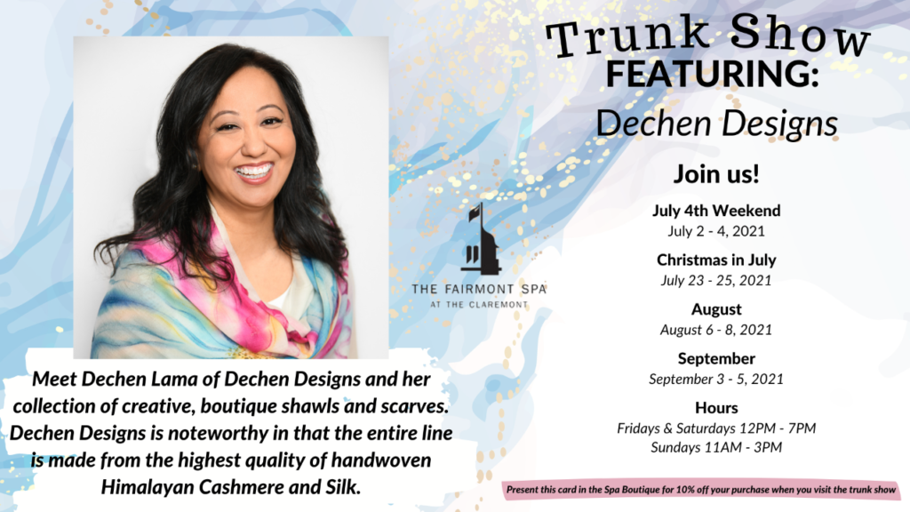 Claremont July trunk show dates